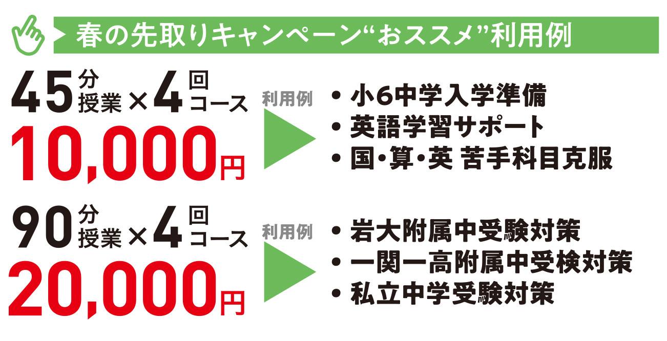"""春の先取りキャンペーン""""おススメ""""利用例"""